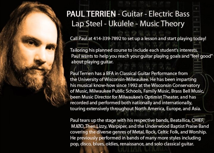Guitar Lessons with Paul Terrien 414-339-7892